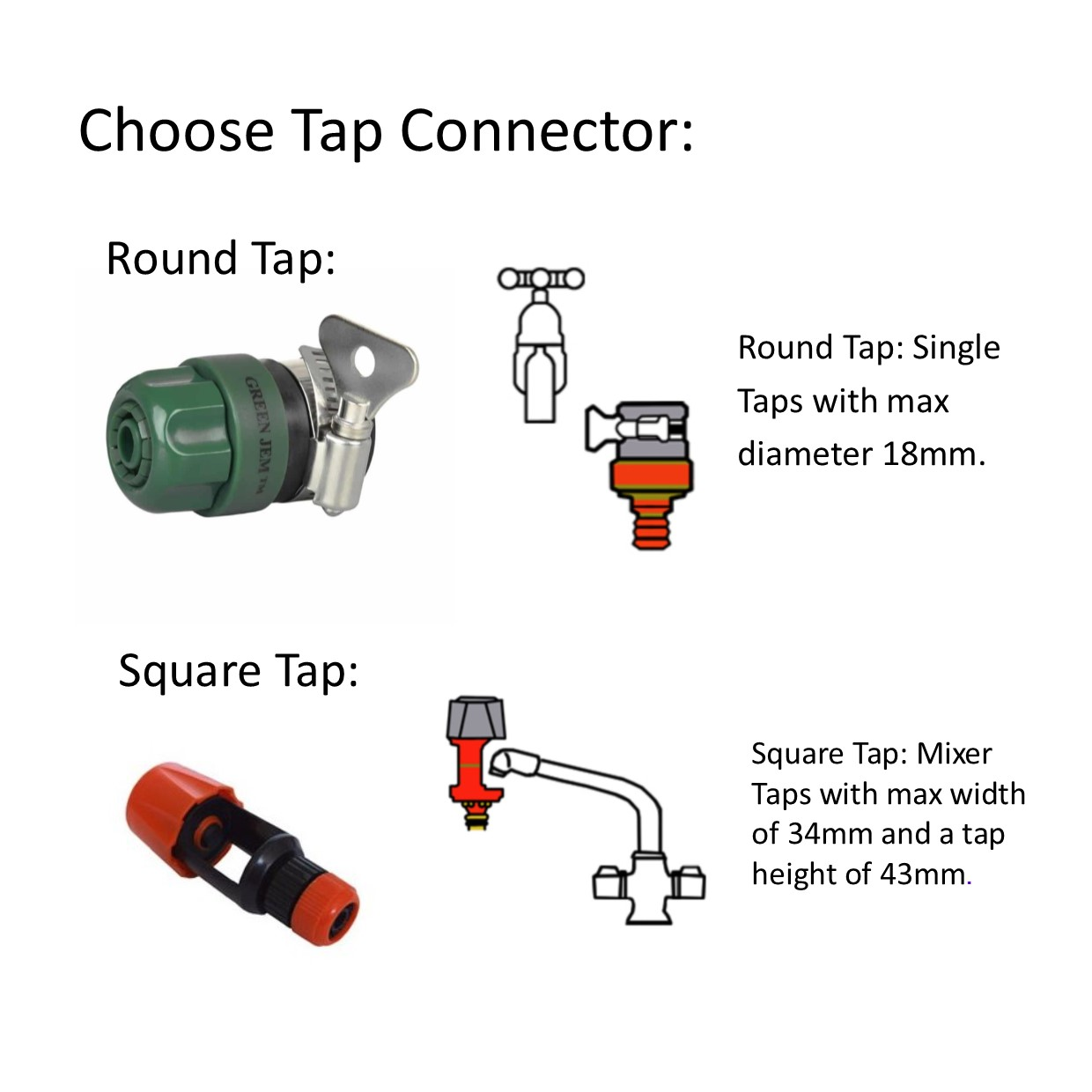 Pool Tap Connectors